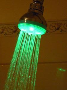shower green below  -32 c